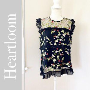 NEW Heartloom Michelina Floral Embroidered Top